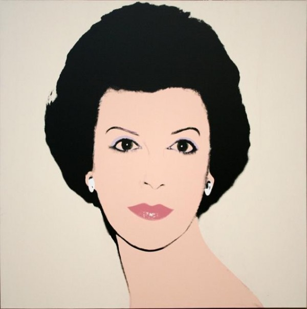 Andy Warhol, Emily Fisher Landau, 1982, synthetic polymer paint and silkscreen ink on canvas, 40 x 40 inches