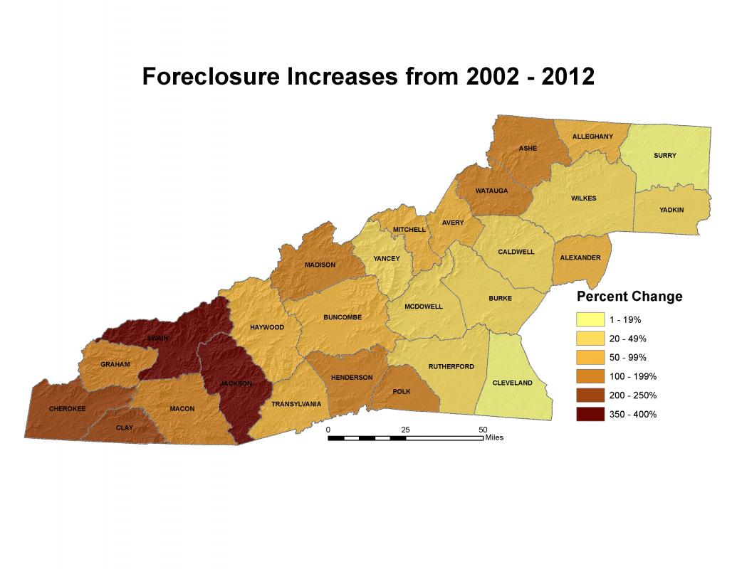WNC Vitality Index foreclosure map