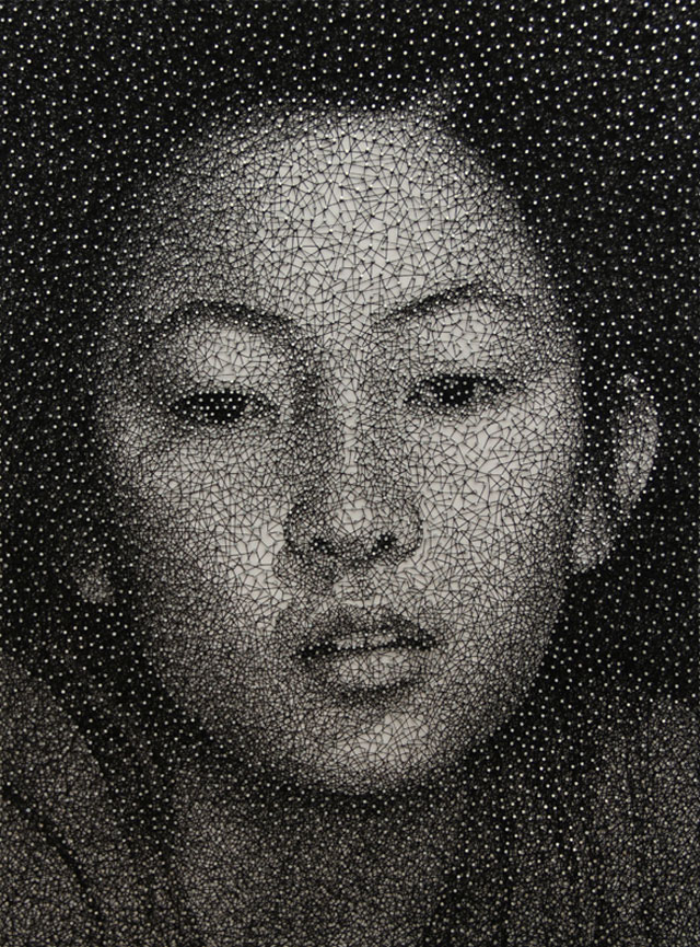 Unbelievable portraiture made from a single thread