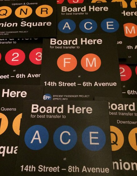 Helpful guerrilla subway sign project elicits mixed reactions