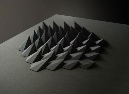 Delicate sculptures created through paper folding