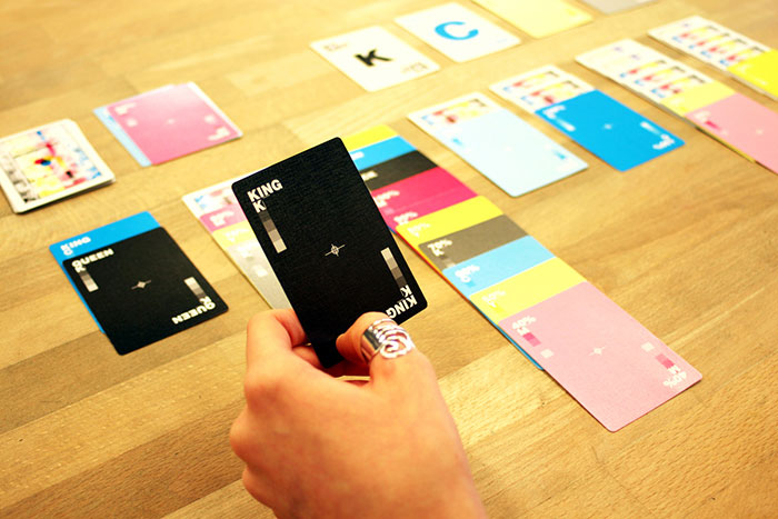 Clever CMYK playing cards for print designers