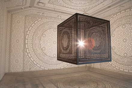 Patterned shadows in stunning art piece