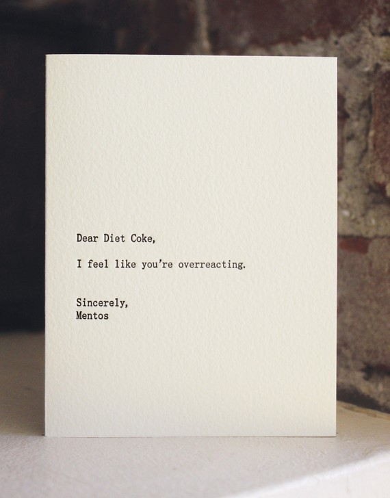 Dry humor notes for that friend who just gets it…