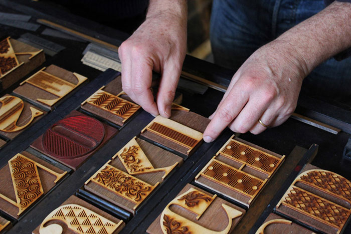 From Digital to Analog: Lasercut typeface used in letterpress printing