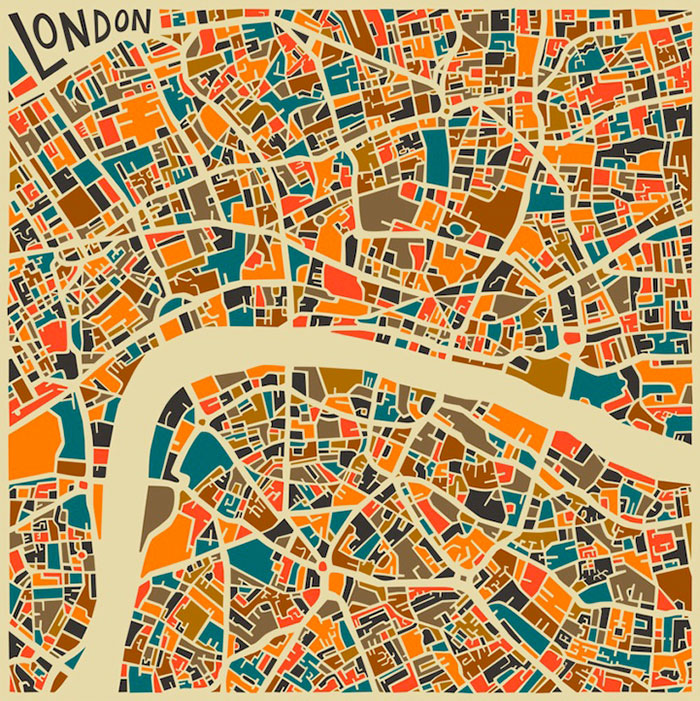 Abstracted maps reveal cities' personalities