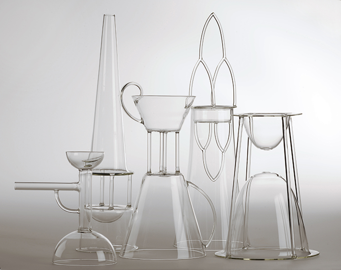 Traditional incense burners recreated in glass