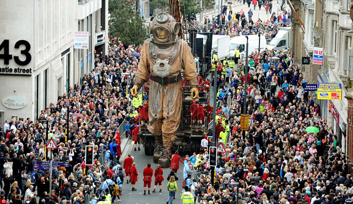 Magical worlds made larger-than-life with giant marionettes