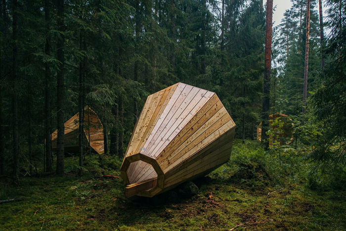 Eavesdrop on trees with these gigantic wooden megaphones